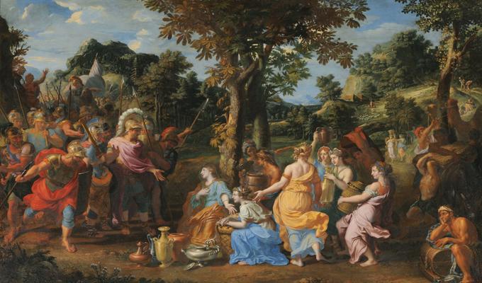 53 阿比盖尔给大卫带来礼物 Licherie de Beurie Louis 1679年 mra 100.jpg